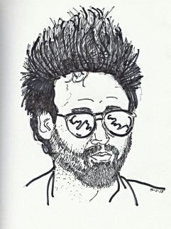 """Self Portrait - Hair and Glasses"""